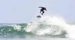 Surfing Podcast - Zoltan Torkos First Above Lip Surfing Kickflip Volcom